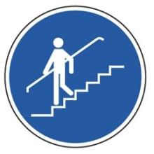 1 Rulle MS3-50-HH Påbud: Brug gelænder på trappen