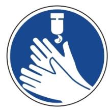 1 Rulle MS3-100-DZ Påbud: Desinficer hænder