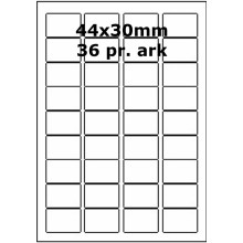 25 ark 44A30AXWE1-25 Hvide Polyester Extreme Bredde 31-60mm