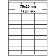 25 ark 70A20AXWE1-25 Hvide Polyester Extreme Bredde 61-90mm