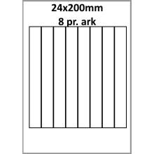 25 ark 24A200WEG1-25 Hvide Polyester Glossy Bredde 00-30mm