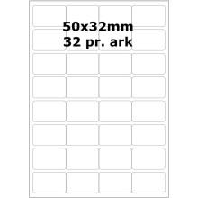 25 ark 50A32WEG1-25 Hvide Polyester Glossy Bredde 31-60mm