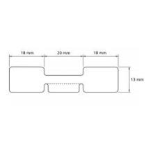 1 rulle 56R13PP3-76 Smykke Labels Kerne 76 mm
