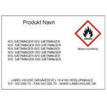 Template D7169P Print faremærker /Gratis software