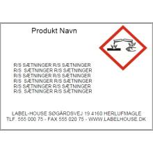 Template D18-039P Print faremærker /Gratis software