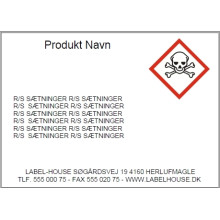 Template D18-038P Print faremærker /Gratis software