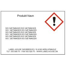 Template D7165P Print faremærker /Gratis software
