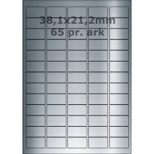 25 ark 38A21SP1-25 Sølvpolyester Bredde 31-60mm