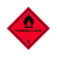 1 rulle HM3-100-PZP Brandbare væsker m/tekst