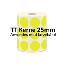 1 rulle 30RRTT3-25Y Gule Papir Labels TT 25