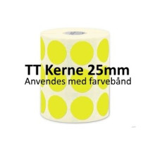 1 rulle 25RRTT3-25Y Gule Papir Labels TT 25