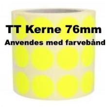 1 rulle 25RRTT3-76Y Gule Papir Labels TT 76