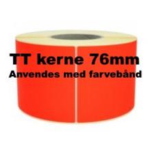1 rulle 100R50TT3-76R Røde Papir Labels TT 76