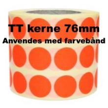 1 rulle 10RRTT3-76R Røde Papir Labels TT 76