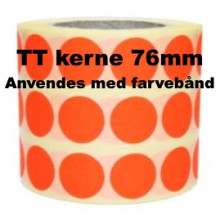 1 rulle 25RRTT3-76R Røde Papir Labels TT 76