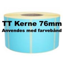1 rulle 100R100TT3-76B Blå Papir Labels TT 76