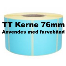 1 rulle 100R150TT3-76B Blå Papir Labels TT 76