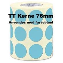 1 rulle 25RRTT3-76B Blå Papir Labels TT 76