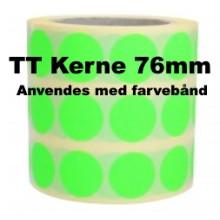 1 rulle 25RRTT3-76G Grønne Papir Labels TT 76