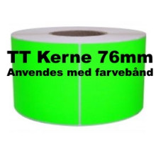 1 rulle 30R15TT3-76G Grønne Papir Labels TT 76