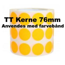 1 rulle 25RRTT3-76O Orange Papir Labels TT 76