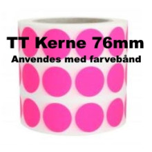 1 rulle 20RRTT3-76P Pink Papir Labels TT 76