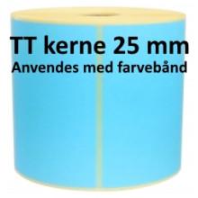 1 rulle 100R50TT3-25B Blå Papir Labels TT 25