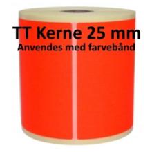1 rulle 30R15TT3-25R Røde Papir Labels TT 25