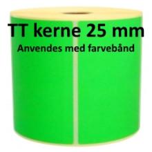 2 ruller 102R152TT3-25G Grønne Papir Labels TT 25