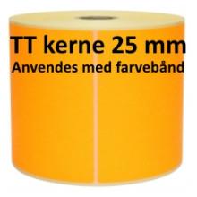 2 ruller 102R152TT3-25O Orange Papir Labels TT 25