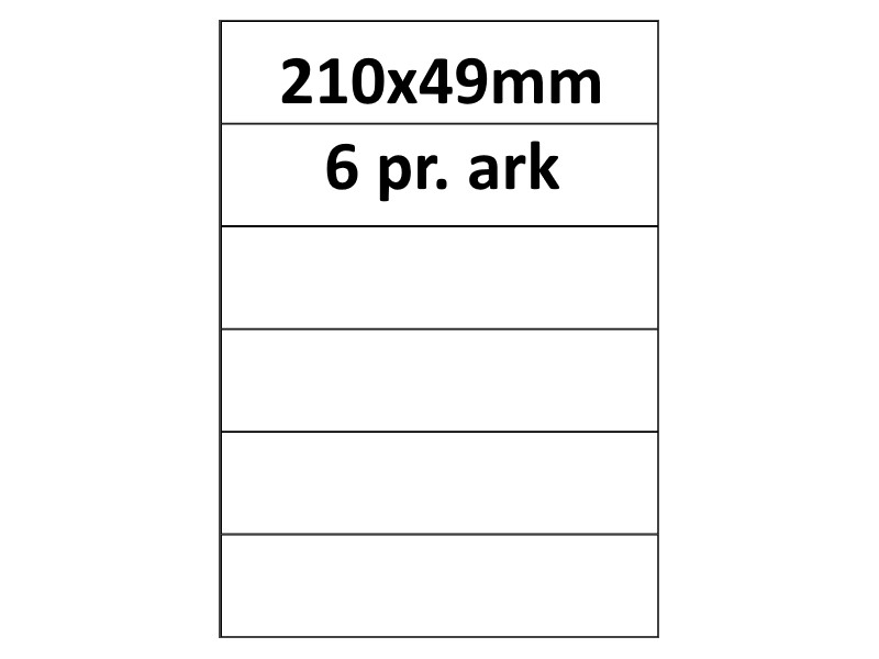 100 ark 210x49-1-PF PolyFast -Volume køb