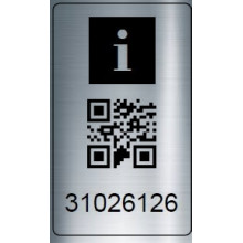 stk. Serie-64x34SP-QR Fortløbende stregkode nr