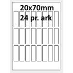 25 ark 20A70GPP1 Højglans Papir Inkjet Printer Bredde 00-30mm