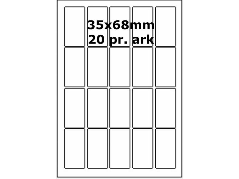 100 ark 35A68LC1 Højglans Papir Laser Printer Bredde 31-60mm
