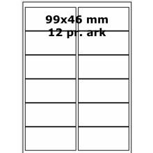 100 ark 99A46LC1 Højglans Papir Laser Printer Bredde +91mm