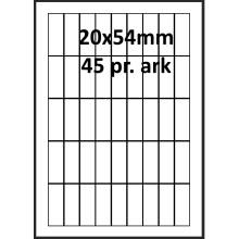 25 ark 20A54W1-25 Hvide Polyester Bredde 00-30mm