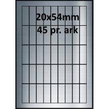 25 ark 20A54SP1-25 Sølvpolyester Bredde 00-30mm