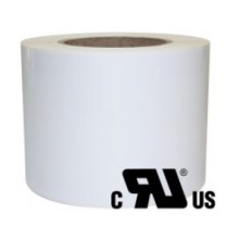2 ruller 13R11W3-76B Hvid Polyester Kerne 76 mm
