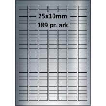 25 ark 25A10BX3-25 Sølv Polyester Extreme klæber