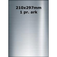 25 ark 210A297BX3-25 Sølv Polyester Extreme klæber
