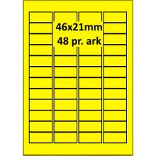100 ark 46A21H3-Y Gule Papir Labels