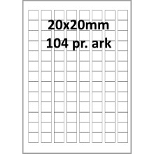 100 ark 20A20H1-HA Aftagelige Papir Labels