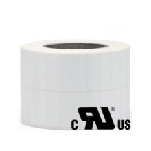 2 ruller 17R5W3-76B Hvid Polyester Kerne 76 mm