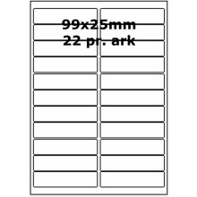 25 ark 99A25W1-25 Hvide Polyester Bredde +91mm