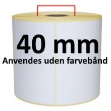 1 rulle 25R75DTU3-40 Hvid DT Kerne 40mm