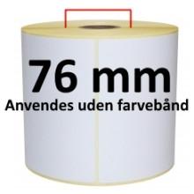 1 rulle 25R75DTU3-76 Hvid DT Kerne 76mm