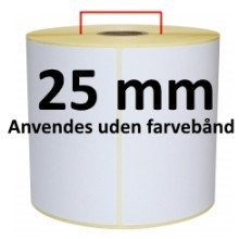 1 rulle 50R18DTU3-25 Hvid DT Kerne 25mm