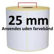 2 ruller 51R25DTU3-25 Hvid DT Kerne 25mm