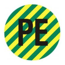1 rulle CAE3-563K12 PE Kabel beskyttelse