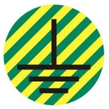 1 rulle CAE3-570K10 Ground Symbol kabel